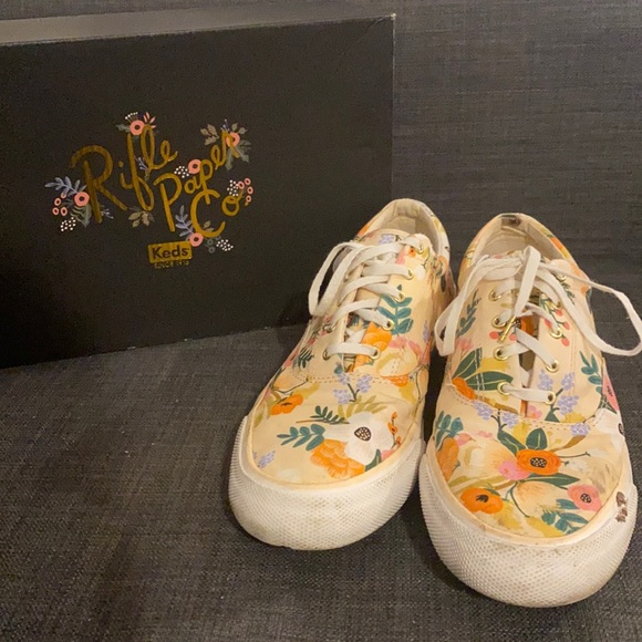 Keds x Rifle Paper Co sneakers, size 11